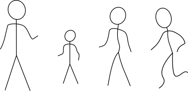 Stick Figures clip art Free vector in Open office drawing.