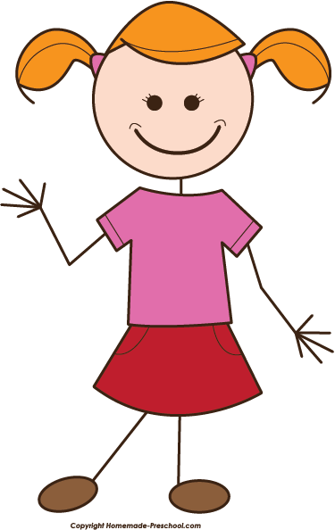 Girl clipart stick figure free images 5.
