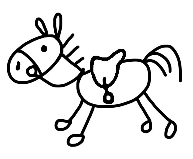 Stick Horse Graphics Commission.