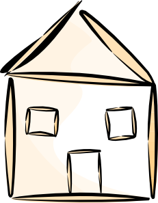 Stick House Clipart.