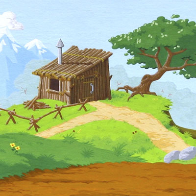 Images: Three Little Pigs Stick House Clip Art.
