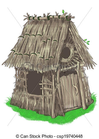 House Of Sticks Clipart.