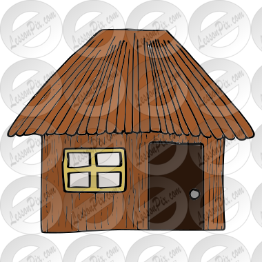 Stick House Picture for Classroom / Therapy Use.