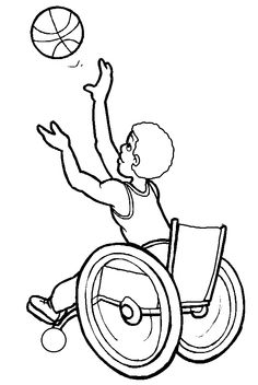 wheelchair baseball coloring page.