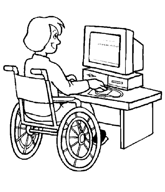 wheelchair baseball coloring page.
