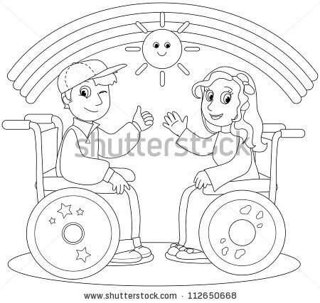 Kid Wheelchair Stock Images, Royalty.