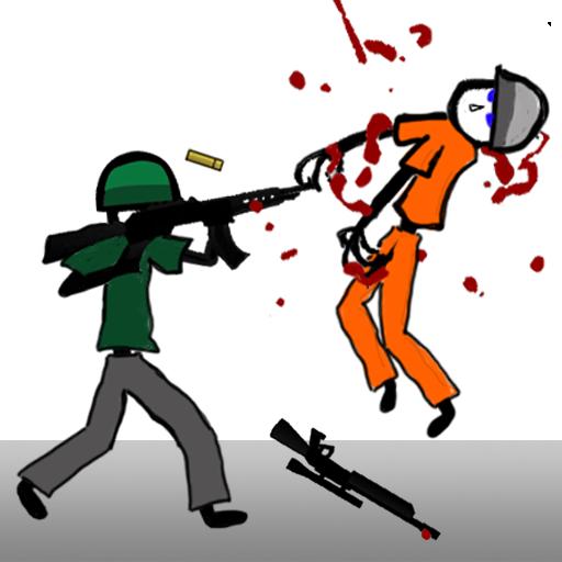 Stickman Soldier Shooting.