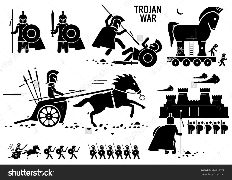 Trojan War Horse Greek Rome Warrior Troy Sparta Spartan Stick.