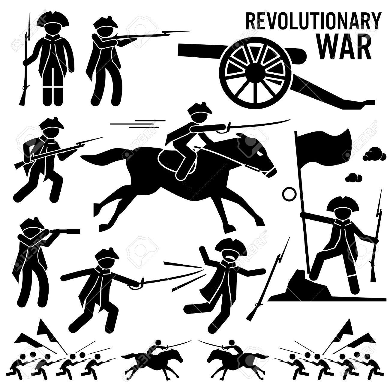 Revolutionary War Soldier Horse Gun Sword Fight Independence.
