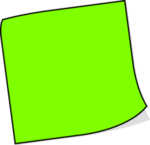 Neon Green Sticky Note Clip Art at Clker.com.