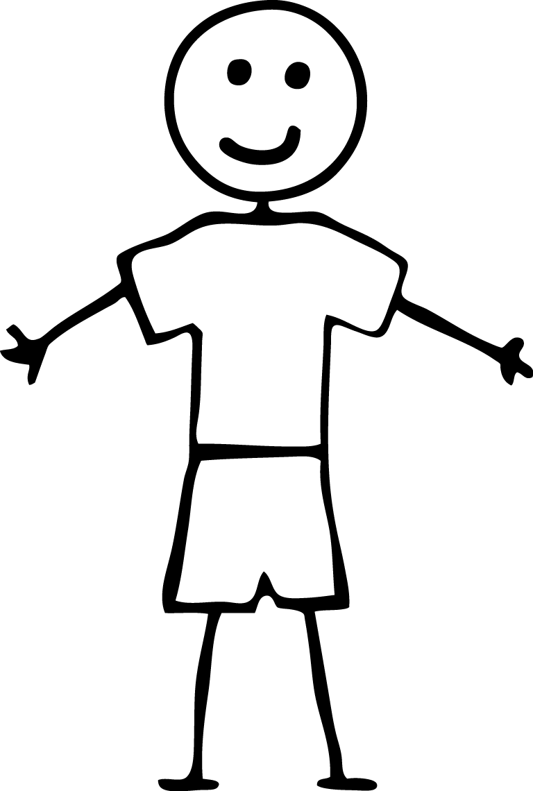 Download Free png Boy Stick People Clip Art.