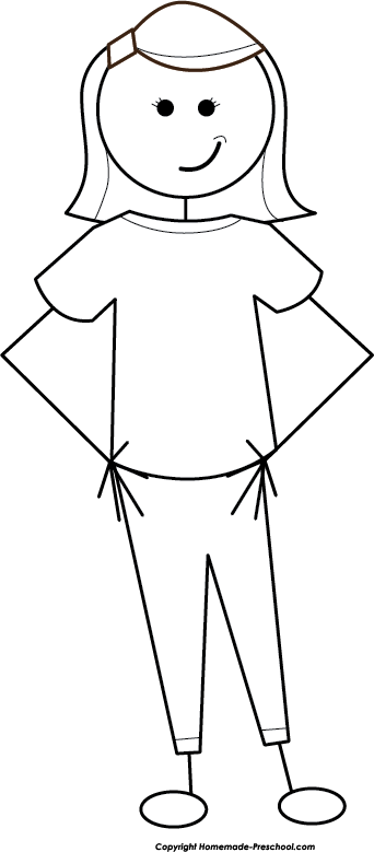 Stick People Dad Clipart Black And White.
