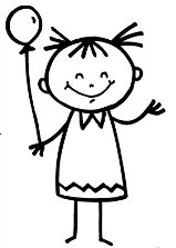 stick person girl clipart #15