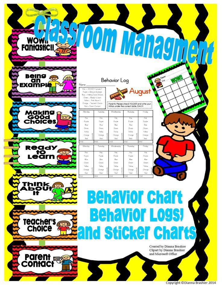 Classroom Management: Behavior Clip Chart, Behavior Logs.