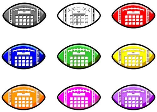 Football Sticker Charts: Fun sticker chart templates shaped.