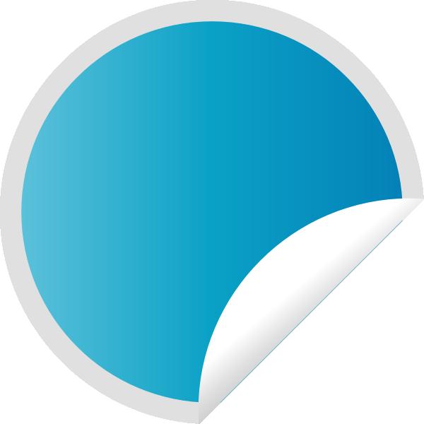 Peeling Blue Sticker Clip Art at Clker.com.