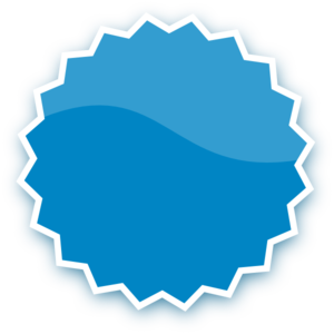 Blue Plain Sticker Clip Art at Clker.com.