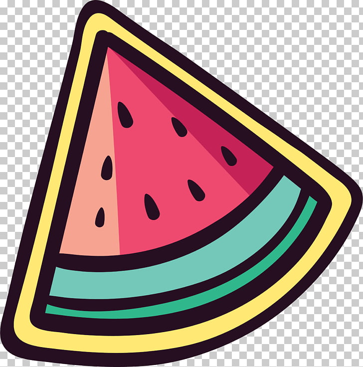 Watermelon Sticker , Cute watermelon sticker PNG clipart.