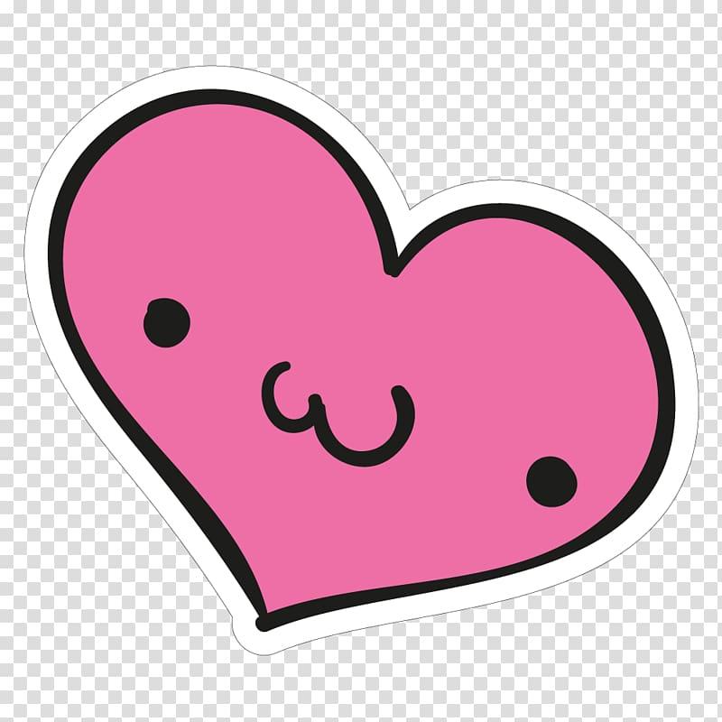Pink heart clip, Heart Sticker Meter , cute stickers.