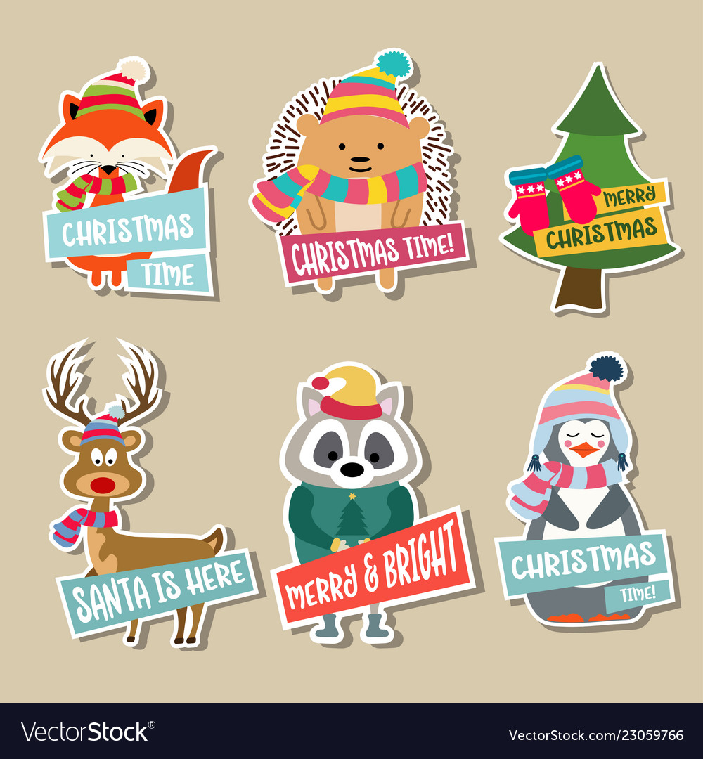 Christmas stickers collection.
