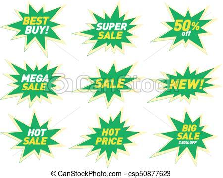 Sale label price tag banner star badge template sticker design. Vector  illustration..