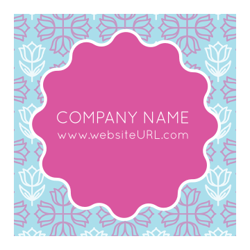 Personalize Our Floral Circle Sticker Design Template.