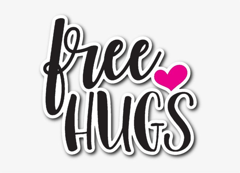 Free Hugs Vinyl Die Cut Sticker.
