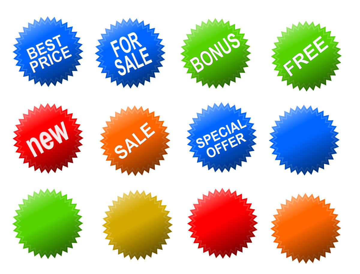 Shopping Special Offer Stickers Tags (PNG Transparent.