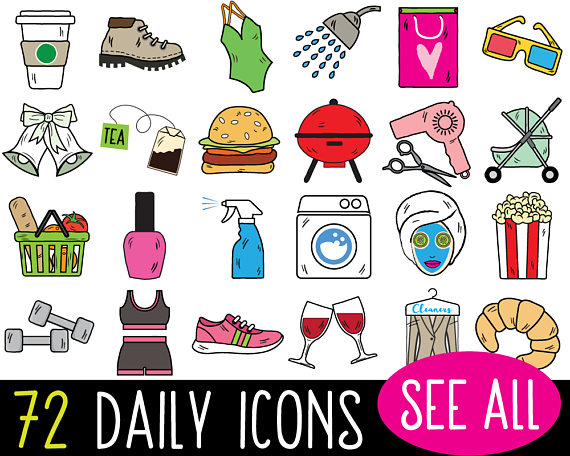 Pin by KatyBeeDesign on Everyday Icons Clipart in 2019.