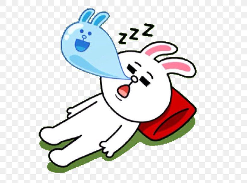 Sticker Line Friends Decal Sleep, PNG, 600x609px, Sticker.