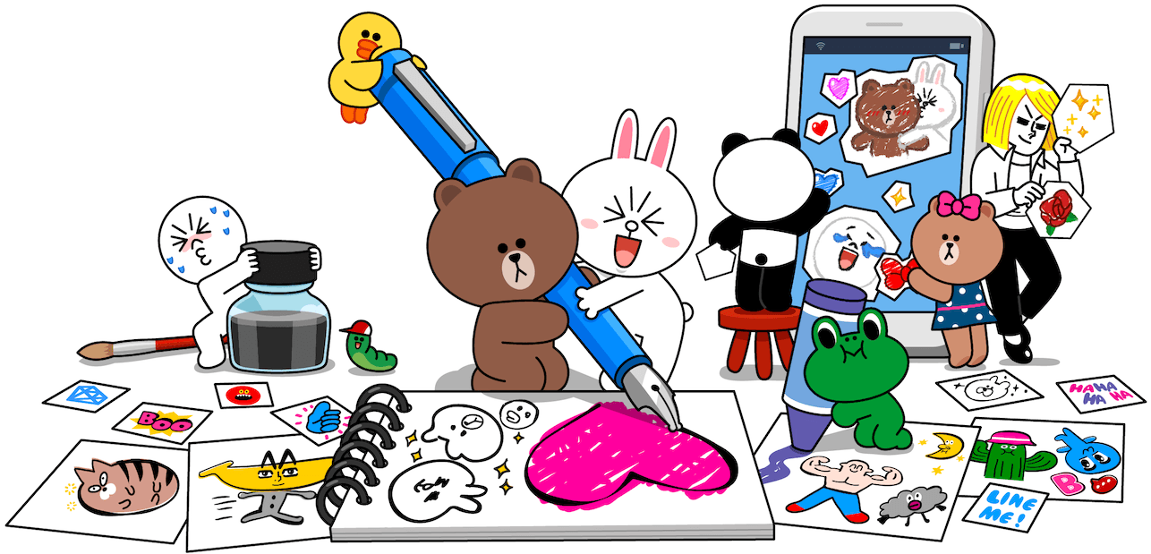 Sticker line pack download free clip art with a transparent.