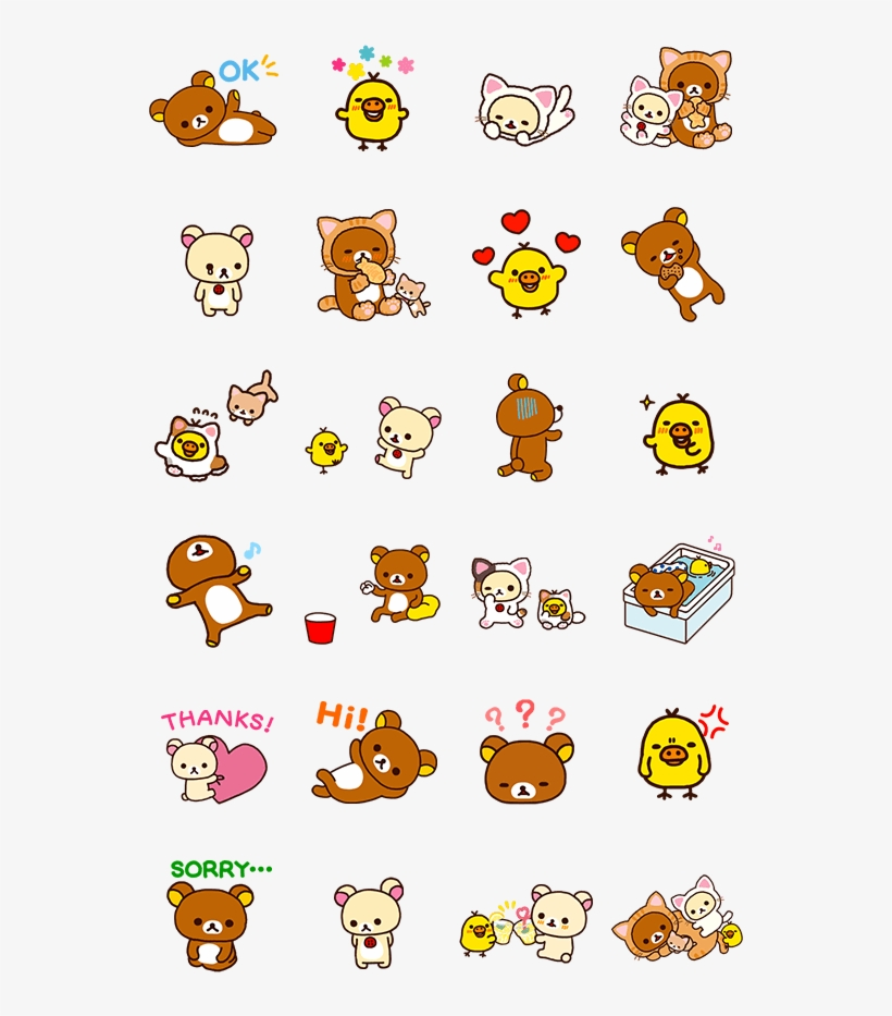 Rilakkuma Transparent Line Sticker.