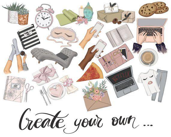 Sticker Creator, Fashion Illustration, Clipart For Stickers.