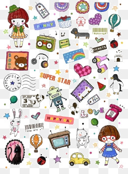 Cute Sticker Png, Vector, PSD, and Clipart With Transparent.