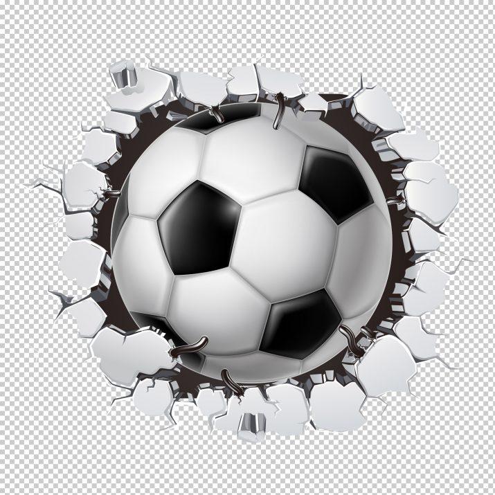 Soccer Broken Wall PNG.