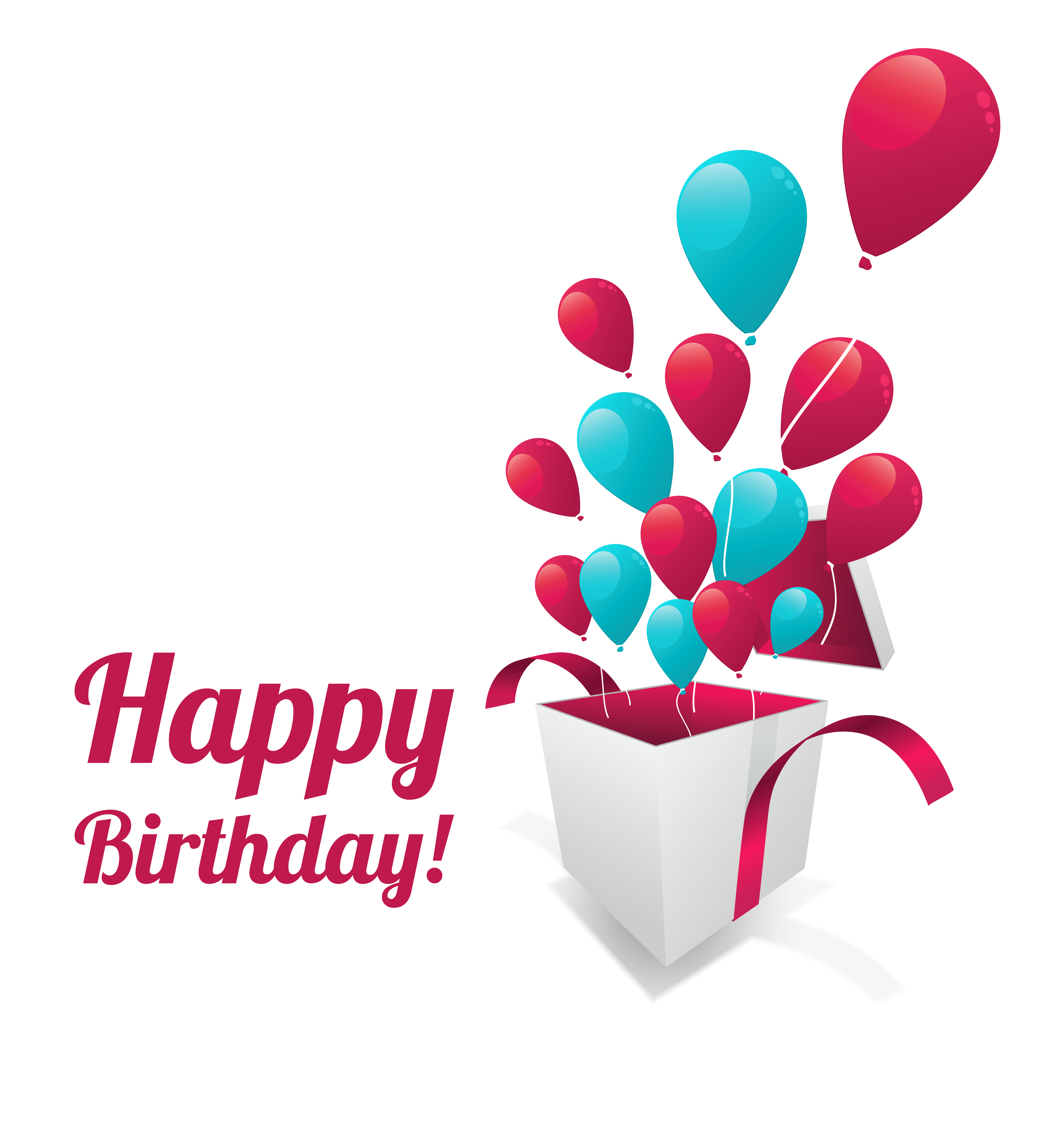 Happy Birthday Text Sticker PNG Clipart Picture.