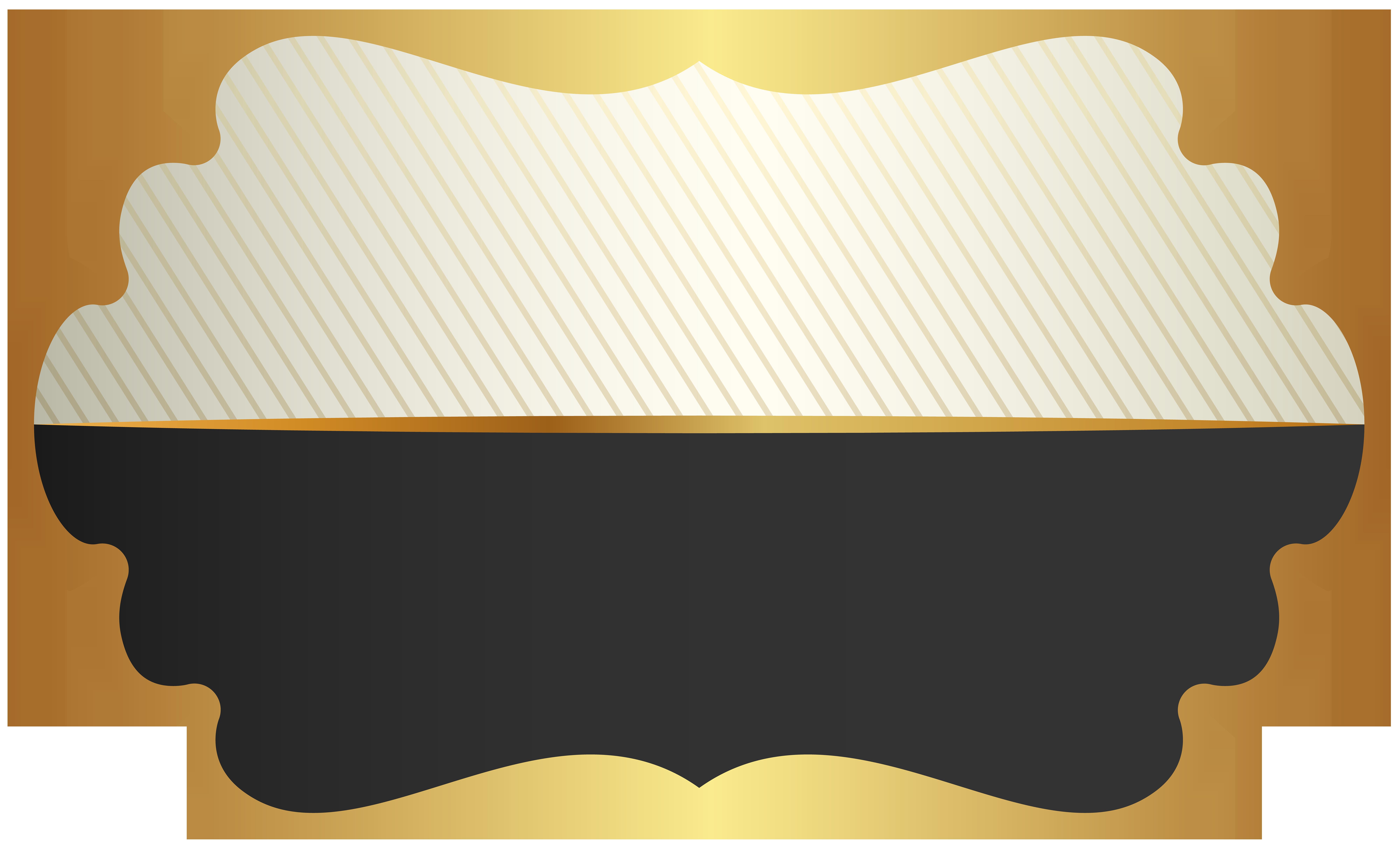 Label Template Black Clip Art PNG Image.
