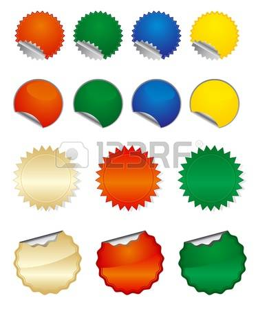 135,166 Round Sticker Stock Vector Illustration And Royalty Free.