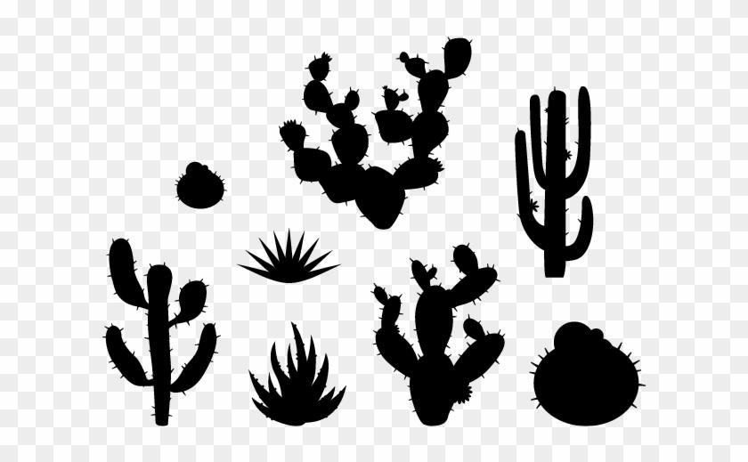 Cactus Clipart Black.
