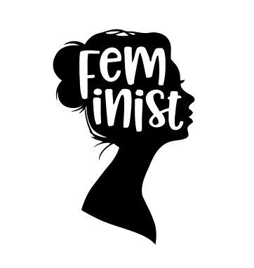 Amazon.com: Cute Feminist Vinyl Decal Sticker (BLACK.