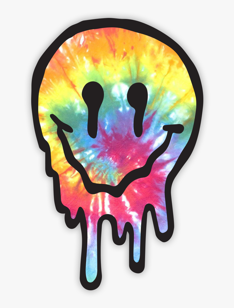 Drippy Face Tie Dye Sticker Clipart , Png Download.