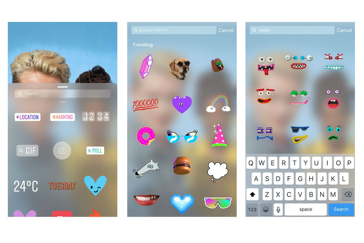 Instagram now supports GIFs in Stories.