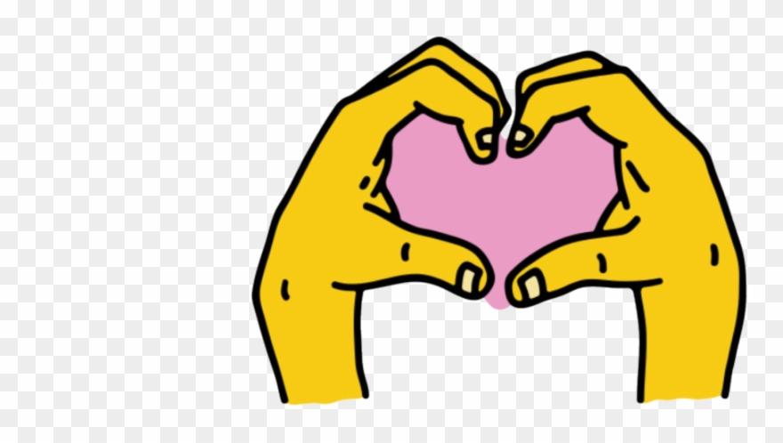 Instagram Hand Heart Sticker.