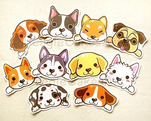 Amazon.com: Dog Stickers. Kawaii Sticker. Erin Condren.