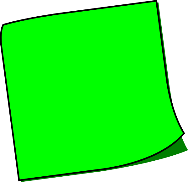 Green Sticky Note Clip Art at Clker.com.