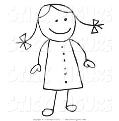 Clipart of kids with hair sticking up.