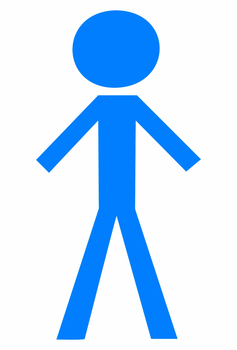 Stick Man Blue Figure Free Picture.