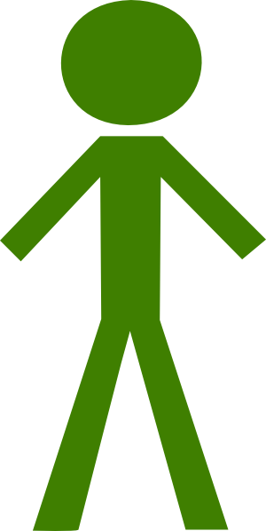 Green stickman clipart images gallery for free download.