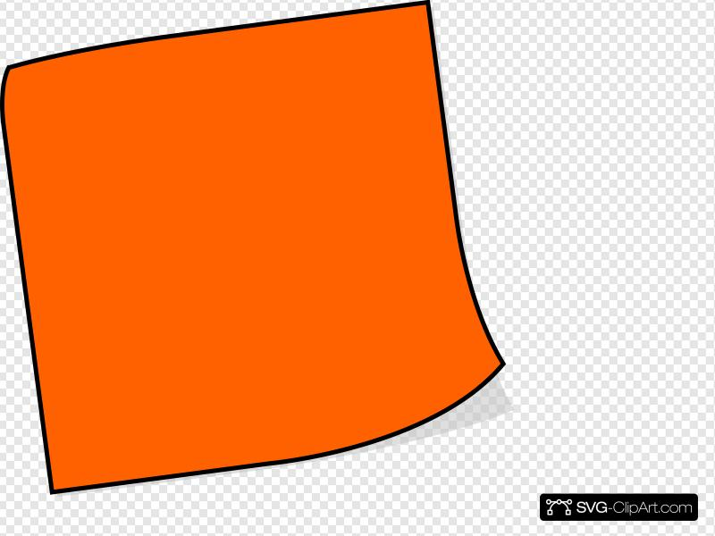 Orange Sticky Note Clip art, Icon and SVG.