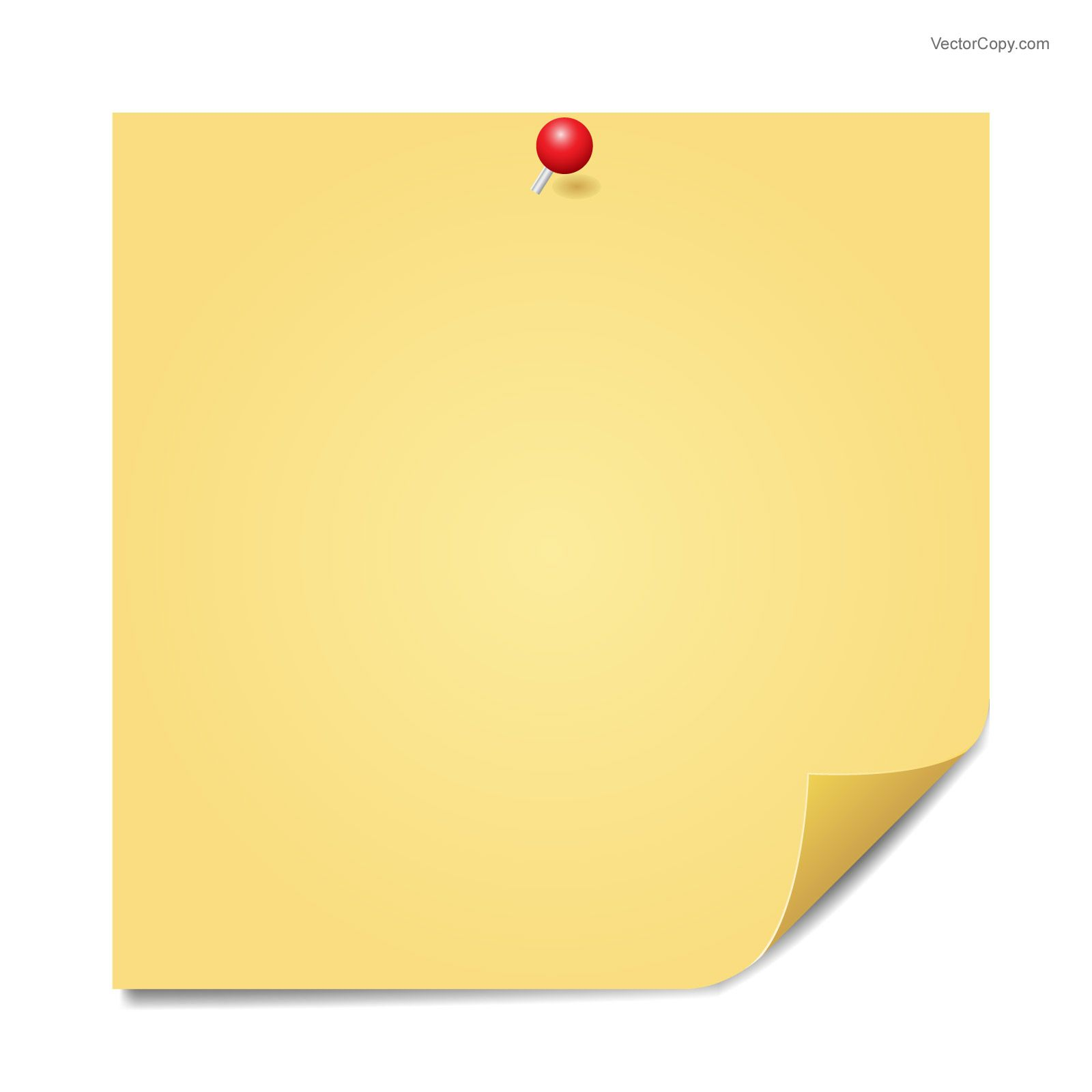 Yellow sticky note, free vector.
